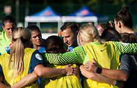 Kansas City, MO - Sunday July 02, 2017:  Vlatko Andonovski motivates his team before a regular season National Women's Soccer League (NWSL) match between FC Kansas City and the Houston Dash at Children's Mercy Victory Field.