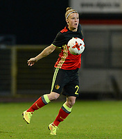 20170411 - LEUVEN ,  BELGIUM : Belgian Laura Deloose pictured during the friendly female soccer game between the Belgian Red Flames and Scotland , a friendly game in the preparation for the European Championship in The Netherlands 2017  , Tuesday 11 th April 2017 at Stadion Den Dreef  in Leuven , Belgium. PHOTO SPORTPIX.BE | DAVID CATRY