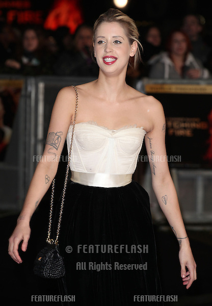 Peaches Geldof arriving for The Hunger Games, Catching Fire World Premiere, London Leicester Square. 11/11/2013 Picture by: Alexandra Glen / Featureflash