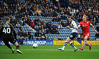 Preston North End's Tom Barkhuizen scores his side's second goal <br /> <br /> Photographer Kevin Barnes/CameraSport<br /> <br /> The EFL Sky Bet Championship - Preston North End v Barnsley - Saturday 5th October 2019 - Deepdale Stadium - Preston<br /> <br /> World Copyright © 2019 CameraSport. All rights reserved. 43 Linden Ave. Countesthorpe. Leicester. England. LE8 5PG - Tel: +44 (0) 116 277 4147 - admin@camerasport.com - www.camerasport.com