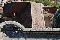 Europe/Europe/France/Midi-Pyrénées/46/Lot/Rocamadour: Cité religieuse -Depuis les remparts du Château vue sur les toits du sanctuaire