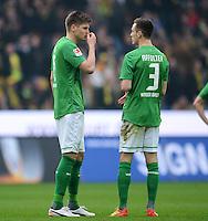 FUSSBALL   1. BUNDESLIGA   SAISON 2011/2012   26. SPIELTAG Borussia Dortmund - SV Werder Bremen               17.03.2012 Sebastian Proedl (li) und Francois Affolter (re, beide SV Werder Bremen)