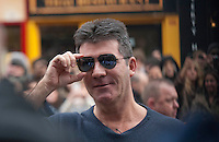 Britain's Got Talent in Edinburgh. Pictured Simon Cowell..Picture: Pavol Mraz/Universal News And Sport (Scotland). 11/ February 2012.