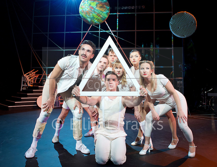 The Who's Tommy <br /> at Greenwich Theatre, London, Great Britain <br /> press photocall <br /> 30th July 2015 <br /> <br /> music and lyrics by Pete Townshend <br /> additional music and lyrics by Keith Moon and John Entwistle <br /> <br /> directed by Michael Strassen <br /> <br /> Ashley Birchall as Tommy <br /> <br /> Carrie Sutton as Sally Simpson <br /> <br /> Carly Burns as Acid Queen <br /> <br /> Danny Becker<br /> <br /> Alice Mogg <br /> <br /> Scott Sutcliffe<br /> <br /> Miranda Wilford as Mrs Walker <br /> <br /> John Barr as Uncle Ernie<br /> <br /> James Sinclair as Captain Walker <br /> <br /> Giovanni Spano as Cousin Kevin <br /> <br /> <br /> <br /> <br /> <br /> <br /> Photograph by Elliott Franks <br /> Image licensed to Elliott Franks Photography Services