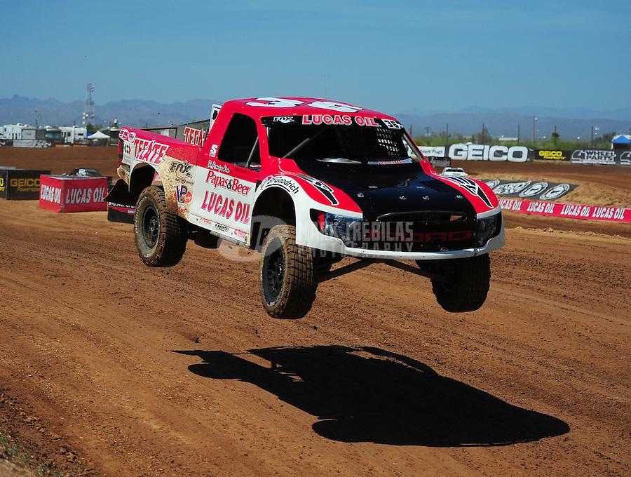 Apr 15, 2011; Surprise, AZ USA; LOORRS driver Rodrigo Ampudia (36) during round 3 and 4 at Speedworld Off Road Park. Mandatory Credit: Mark J. Rebilas-.