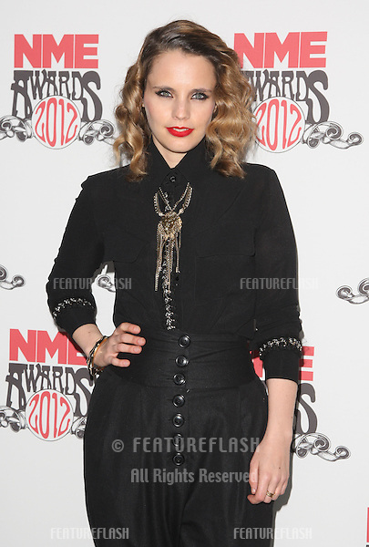 Anna Calvi arriving for the NME Awards 2012 held at The Brixton Academy, London. 29/02/2012 Picture by: Henry Harris / Featureflash
