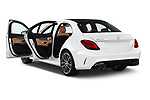Car images close up view of a 2019 Mercedes Benz C-CLass 43-AMG 4 Door Sedan doors
