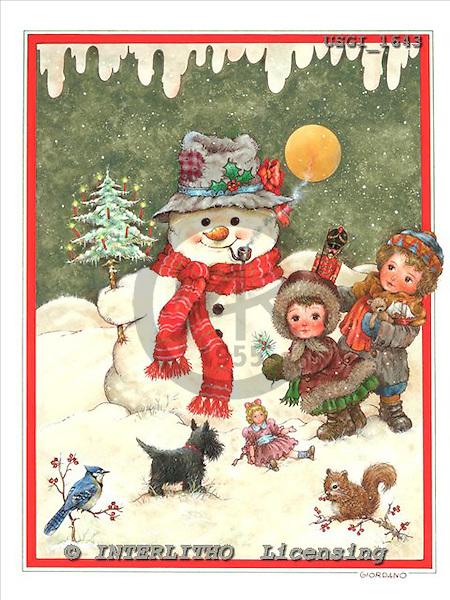 GIORDANO, CHRISTMAS SANTA, SNOWMAN, WEIHNACHTSMÄNNER, SCHNEEMÄNNER, PAPÁ NOEL, MUÑECOS DE NIEVE, paintings+++++,USGI1643,#X#