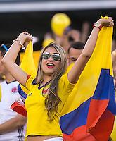 Action photo during the match Peru vs Colombia, Corresponding to the quarterfinals of the America Cup 2016 Centenary at Metlife Stadium.<br /> <br /> Foto de accion durante el partido Peru vs Colombia, Correspondiente a los Cuartos de Final de la Copa America Centenario 2016 en el Estadio Metlife, en la foto: Fans<br /> <br /> <br /> 17/06/2016/MEXSPORT/Osvaldo Aguilar.