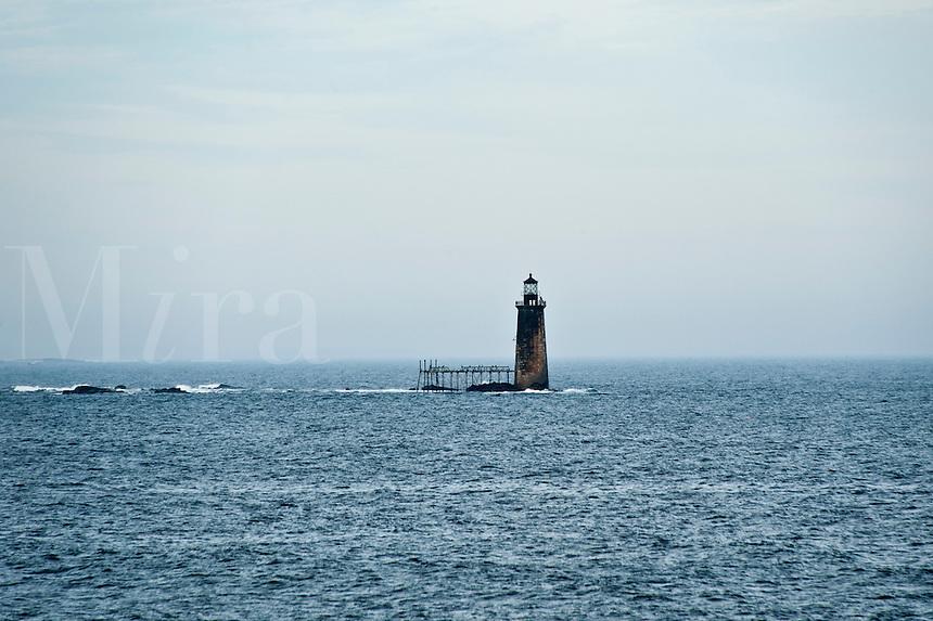 Ram Island Ledge Lighthouse, Portland, Maine, ME, USA Circa 1905