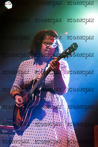 ALABAMA SHAKES - vocalist Brittany Howard - performing live at The Academy in Manchester UK - 12 Nov 2012.  Photo credit: Mike Gatiss/Music Pics/IconicPix