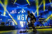 Machine Gun Kelly performs at the Festival d'ete de Quebec (Quebec Summer Festival) on July 12, 2018.