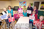 NO MORE DELAYS: Members of the Tralee Older People's Forum who are demanding the opening of the new Tralee Community Hospital, front -r: Catherine O'Connor, Margaret Nolan, Jean Smith, Mary O'Brien, Angela Maray. Back l-r: Elizabeth Meehan, Fiona English (Kerry Connecting), Margaret Murphy, Mary O'Halloran, Christy Hanafin, Maria Hickey (North and East Kerry Development).