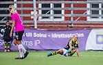 Solna 2014-08-16 Fotboll Damallsvenskan AIK - Kopparbergs/G&ouml;teborg FC :  <br /> AIK:s Sarah Storck har skadat sifg<br /> (Foto: Kenta J&ouml;nsson) Nyckelord:  AIK Gnaget Kopparbergs G&ouml;teborg Kopparbergs/G&ouml;teborg skada skadan ont sm&auml;rta injury pain depp besviken besvikelse sorg ledsen deppig nedst&auml;md uppgiven sad disappointment disappointed dejected
