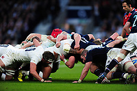A general view of a scrum. RBS Six Nations match between England and Scotland on March 11, 2017 at Twickenham Stadium in London, England. Photo by: Patrick Khachfe / Onside Images