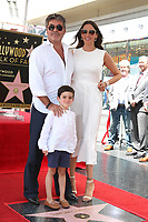 LOS ANGELES - AUG 22:  Simon Cowell, Eric Cowell, Lauren Silverman at the Simon Cowell Star Ceremony on the Hollywood Walk of Fame on August 22, 2018 in Los Angeles, CA