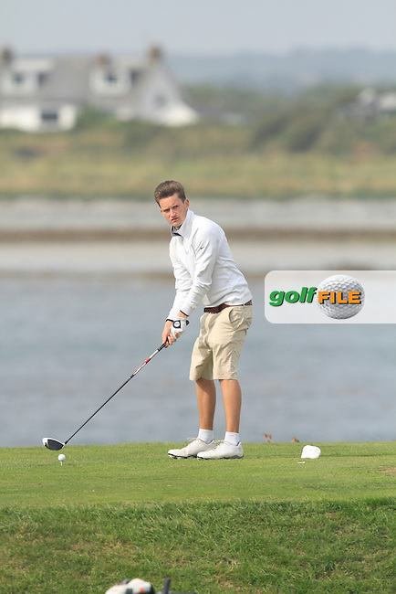 Harry Scott (Castle) on the 13th tee during Round 1 of the Irish Youths Amateur Close Championship in Ardglass Golf Club on Wednesday 27th August 2014.<br /> Picture:  Thos Caffrey / www.golffile.ie