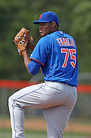 New York Mets pitcher Jeurys Familia #75 during a minor league spring training intrasquad game at the Port St. Lucie Training Complex on March 27, 2012 in Port St. Lucie, Florida.  (Mike Janes/Four Seam Images)