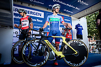 Niccolo Bonifazio (ITA/Total Direct Energie) awaiting hit ITT start.<br /> <br /> Baloise Belgium Tour 2019<br /> Stage 3: ITT Grimbergen – Grimbergen 9.2km<br /> ©kramon