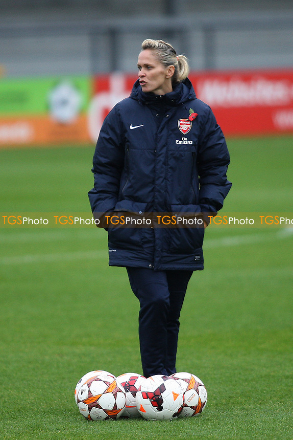 Arsenal Ladies manager Shelley Kerr - Arsenal Ladies vs Glasgow City LFC - UEFA Womens Champions League Round of 16 First Leg Football at the Hive Stadium, Barnet FC, London - 09/11/13 - MANDATORY CREDIT: George Phillipou/TGSPHOTO - Self billing applies where appropriate - 0845 094 6026 - contact@tgsphoto.co.uk - NO UNPAID USE