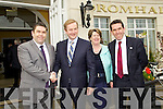 Tom, Bernadette and David Randles with An Taoiseach Enda Kenny pictured attending the Business briefing on the Stability Treaty in the Dromhall Hotel, Killarney, on Friday