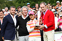 Ai Miyazato (JPN),JULY 24, 2011 - Golf :Ai Miyazato of Japan poses with the trophy, French ski legend Jean-Claude Killy (R), Jacques Bungert, Evian Masters tournament director (L) and Franck Riboud, Danone group CEO and chairman (2nd L) after the Evian Masters at the Evian Masters Golf Club in Evian-les-Bains, France. (Photo by Yasuhiro JJ Tanabe/AFLO)