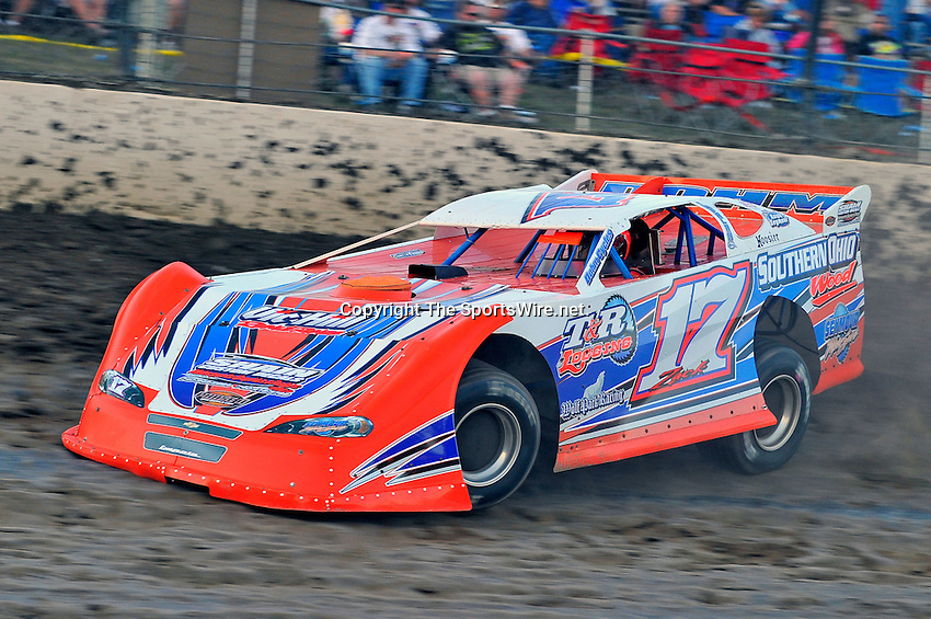 Sep 10, 2010; 7:37:53 PM; Rossburg, OH., USA; The 40th annual running of the World 100 Dirt Late Models racing for the Globe trophy at the Eldora Speedway.  Mandatory Credit: (thesportswire.net)