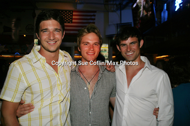 Jake Silbermann - Van Hansis - Nicholas Galbraith - 11th Annual SoapFest - Celebrity Bartending Party at Almost Famous Mel's to benefit Marco Island YMCA, theatre program & Art League of Marco Island on Marco Island, Florida on May 2, 2009. (Photo by Sue Coflin/Max Photos)