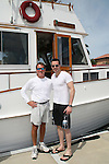John Driscoll and Capt. Ken - 11th Annual SoapFest - Actors take a break on the Ramblin' Rose with Ken as the captain on May 2, 2009 on Marco Island, FLA. (Photo by Sue Coflin/Max Photos)