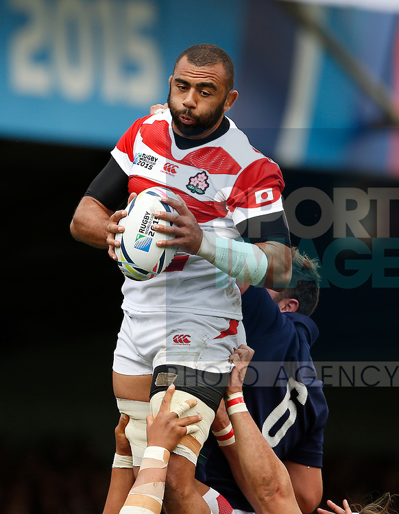 Michael Leitch of Japan - Rugby World Cup 2015 - Pool B - Scotland vs Japan - Kingsholm Stadium - Gloucester - England - 23rd September 2015 - Picture Simon Bellis/Sportimage