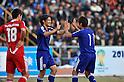 (L-R) Shinji Okazaki, Hiroshi Kiyotake (JPN), NOVEMBER 11, 2011 - Football / Soccer : Shinji Okazaki of Japan celebrates his 2nd goal during the 2014 FIFA World Cup Asian Qualifiers Third round Group C match between Tajikistan 0-4 Japan at Central Stadium in Dushanbe, Tajikistan. (Photo by Jinten Sawada/AFLO)
