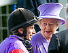 QUEEN ELIZABETH'S HORSE TESTS POSTIVE FOR BANNED DRUG<br /> The Queen&rsquo;s racehorse Estimate has sensationally tested positive for Morphine.<br /> Buckingham Palace confirmed that the prohibited substance was  detected in a sample taken from the five-year-old mare after she finished second to Leading Light in the Ascot Gold Cup.<br /> The horse could now be stripped of its second-place finish in the 2014 Gold Cup, which would mean the Queen would also forfeit the &pound;80,625 prize money for the second-placed horse.<br /> The five-year-old filly trained by Newmarket based Sir Michael Stoute.<br /> <br /> QUEEN WINS QUEEN'S VASE AT ROYAL ASCOT<br /> The Queen was a winner with her horse Estimate in the second last race of the day.<br /> The trophy was presented to her by Prince Philip, Day 4 Royal Ascot, Ascot_22/06/2012<br /> Picture Shows: Queen talking to her jockey Ryan Moore<br /> Mandatory Credit Photo: &copy;Dias/NEWSPIX INTERNATIONAL<br /> <br /> **ALL FEES PAYABLE TO: &quot;NEWSPIX INTERNATIONAL&quot;**<br /> <br /> IMMEDIATE CONFIRMATION OF USAGE REQUIRED:<br /> Newspix International, 31 Chinnery Hill, Bishop's Stortford, ENGLAND CM23 3PS<br /> Tel:+441279 324672  ; Fax: +441279656877<br /> Mobile:  07775681153<br /> e-mail: info@newspixinternational.co.uk