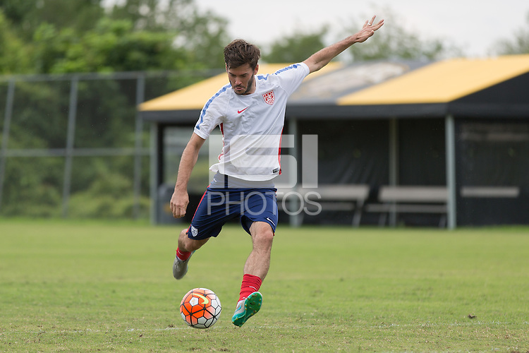 Baltimore, Maryland - July 17, 2015: The USMNT train in preparation for their match versus Cuba in the knockout stage of the Gold Cup 2015 @ UMBC.