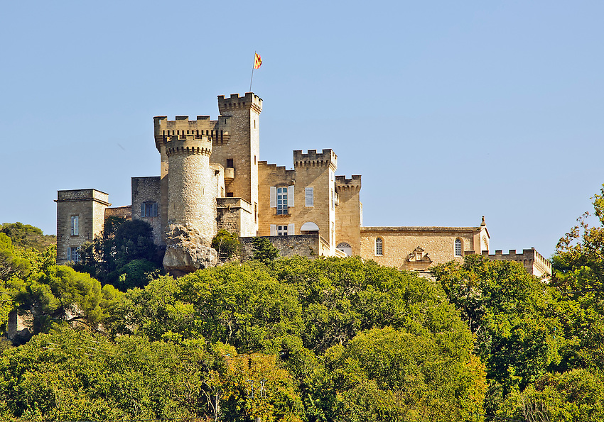 The Chateau de la Barben, located west of Aix-en-Provence, in Provence, France