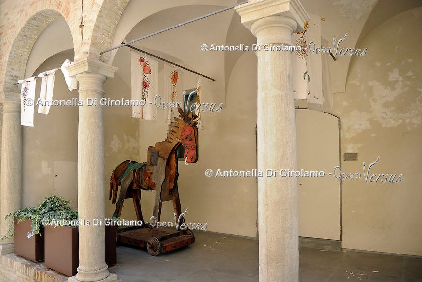 Santarcangelo di Romagna, Rimini.Opere di Tonino Guerra