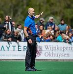 BLOEMENDAAL -  scheidsrechter Pieter Hembrecht tijdens de hoofdklasse competitiewedstrijd hockey heren,  Bloemendaal-Den Bosch  COPYRIGHT KOEN SUYK