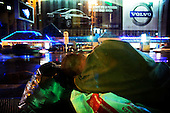 A Russian man falls asleep after drinking on Tverskaya street in the heart of Moscow. .Alcoholism is one of the main causes of death in Russia.