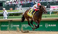 LOUISVILLE, KY - MAY 04: Backyard Heaven, #4, ridden by Irad Ortiz Jr., win the Alysheba, an undercard race on Kentucky Oaks Day at Churchill Downs on May 4, 2018 in Louisville, Kentucky. (Photo by Sue Kawczynski/Eclipse Sportswire/Getty Images)