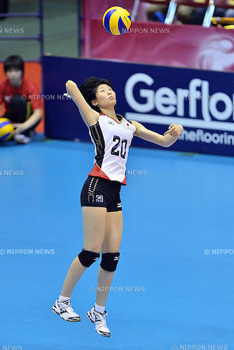 Aimi Kawashima (JPN),<br /> AUGUST 17, 2013 - Volleyball :<br /> 2013 FIVB World Grand Prix, Preliminary Round Week 3 Pool M match Japan 1-3 United States at Sendai Gymnasium in Sendai, Miyagi, Japan. (Photo by Ryu Makino/AFLO)