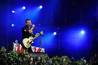 LONDON, ENGLAND - SEPTEMBER 9: James Dean Bradfield of 'Manic Street Preachers' performing at BBC Radio 2 Live in Hyde Park, on September 9, 2018 in London, England.<br /> CAP/MAR<br /> &copy;MAR/Capital Pictures