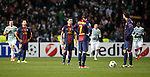 Barcelona stand stunned after Celtic's second goal