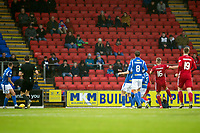 24th November 2019; McDairmid Park, Perth, Perth and Kinross, Scotland; Scottish Premiership Football, St Johnstone versus Aberdeen; Sam Cosgrove of Aberdeen shoots and scores for 1-0 in the 21st minute - Editorial Use