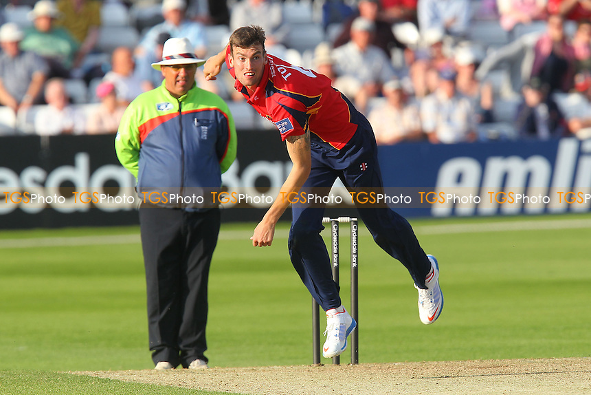 Reece Topley in bowling action for Essex - Essex Eagles vs Scotland - Yorkshire Bank YB40 Cricket at the Essex County Ground, Chelmsford - 02/06/13 - MANDATORY CREDIT: Gavin Ellis/TGSPHOTO - Self billing applies where appropriate - 0845 094 6026 - contact@tgsphoto.co.uk - NO UNPAID USE