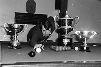 Denis Ashe, snooker player,  Killarney Sports Star 1985.<br /> Photo Don MacMonagle.<br /> macmonagle.com archive