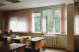 Klassenraum in der Grundschule in Karinskoje, 70 km westlich von Moskau. /  Karinskoye school