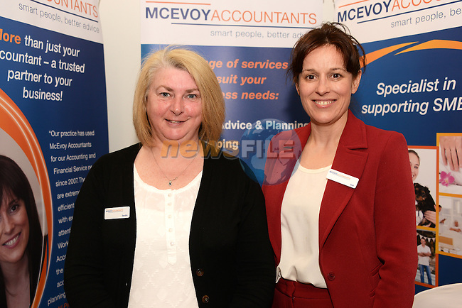 Sandra Quinn and Gail McEvoy of McEvoy Accountants at the Drogheda Chamber Business Expo in the Westcourt Hotel. www.newsfile.ie