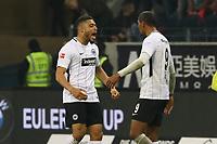 Siegesjubel Simon Falette (Eintracht Frankfurt) und Sebastien Haller (Eintracht Frankfurt) - 03.11.2017: Eintracht Frankfurt vs. SV Werder Bremen, Commerzbank Arena
