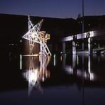 Luci d'artista a Torino. L'opera di Gilberto Zorio. Dicembre 2005...Artist's lights in Turin. The work by Gilberto Zorio. December 2005...Ph. Marco Saroldi. Pho-to.it