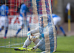 St Johnstone v Inverness Caledonian Thistle...05.10.13      SPFL<br /> Dean Brill sits in the goal after conceding the fourth goal<br /> Picture by Graeme Hart.<br /> Copyright Perthshire Picture Agency<br /> Tel: 01738 623350  Mobile: 07990 594431