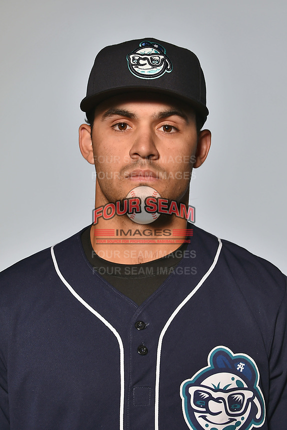 Asheville Tourists outfielder Willie Abreu (6) poses for a photo at Story Point Media on April 4, 2017 in Asheville, North Carolina. (Tony Farlow/Four Seam Images)